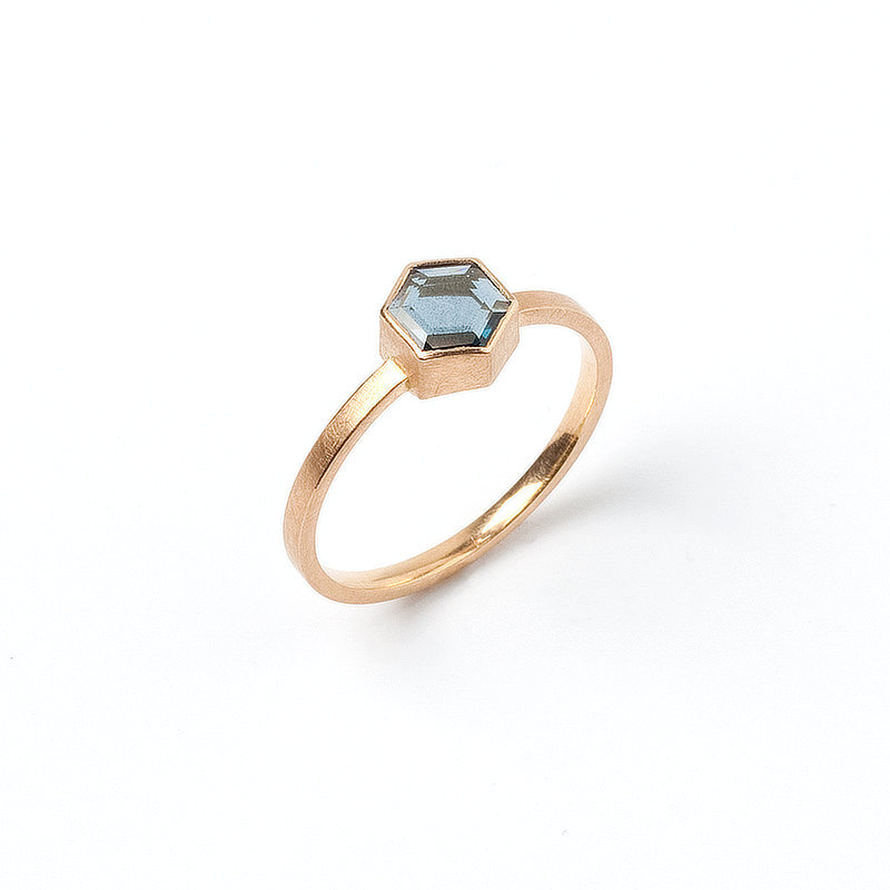 Ring: Spinell & Roségold
